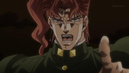 ジョジョ アニメ 第三部 第46話 法皇の結界を張った花京院