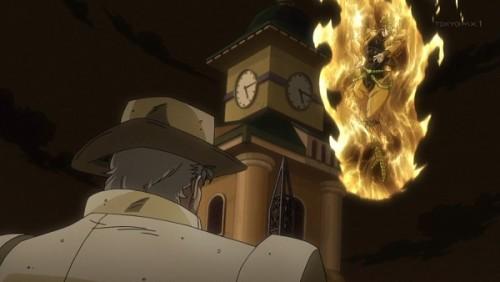 ジョジョ アニメ 第三部 第46話 「お前は血を吸って殺すと予告しよう」