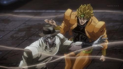 ジョジョ アニメ 第三部 第46話 ジョセフを攻撃しようとするDIO