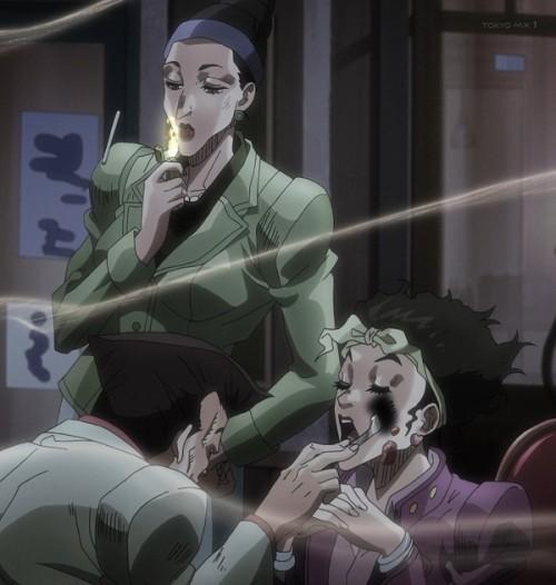 ジョジョ アニメ 第三部 第46話 Cafeの人々