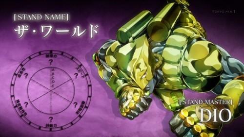 ジョジョ アニメ 第三部 第45話 スタンドチャート ザ・ワールド