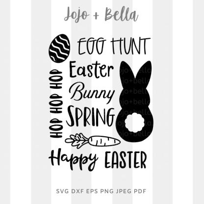 Happy easter word art - happy easter spring SVG - Easter cut file for cricut and silhouette