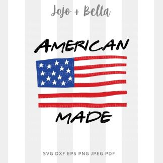 American Made Flag Svg 4th july svg for cricut and silhouette
