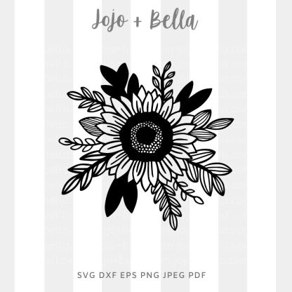 Sunflower 2 Svg - flowers/wreaths cut file for cricut and silhouette