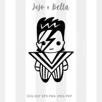 Baby Bowie Svg - A cute cut file for cricut and silhouette
