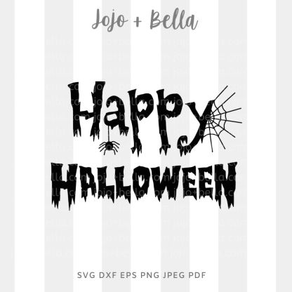Happy Halloween Svg - halloween cut file for cricut and silhouette