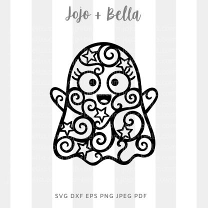 Mandala Ghost Svg - halloween cut file for cricut and silhouette