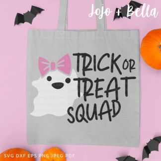 Trick or treat squad Svg - halloween cut file for cricut and silhouette