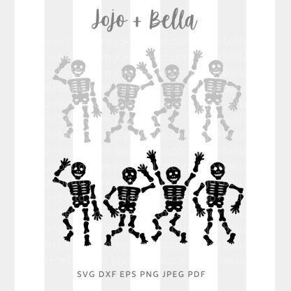 Dancing Skeletons Svg - halloween cut file for cricut and silhouette