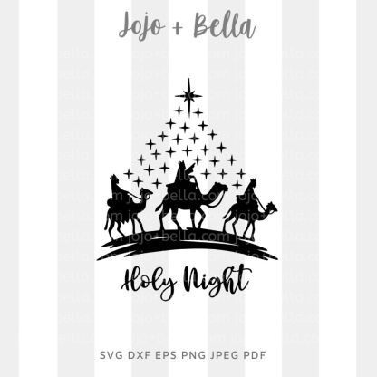 Holy night nativity - Christmas cut file for Cricut and Silhouette