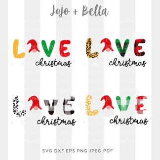 Love gnome - Christmas cut file for Cricut and Silhouette