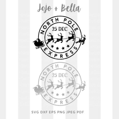 North Pole express svg - Christmas cut file for Cricut and Silhouette
