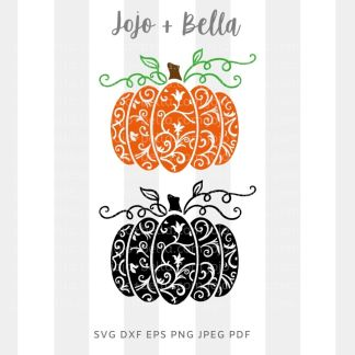 Swirly Pumpkin Svg - thanksgiving cut file for cricut and silhouette
