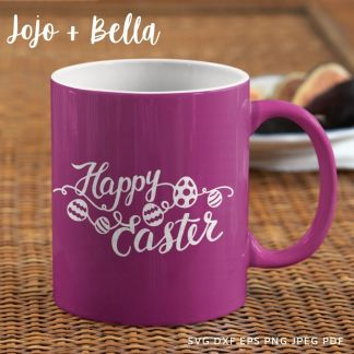 Happy Easter - egg bunting SVG - cut file for cricut and silhouette