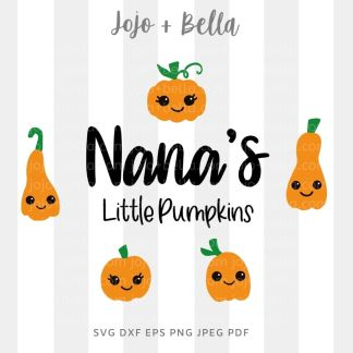 Nana's Little Helpers Svg - fall cut file for cricut and silhouette