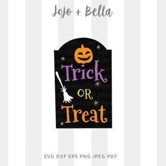 Trick or treat grave Svg - halloween cut file for cricut and silhouette