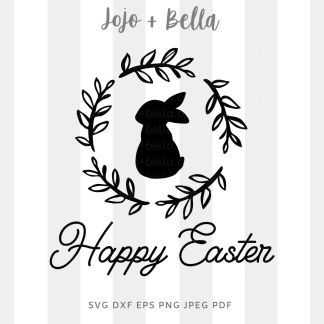 Happy Easter Wreath svg png for cricut, silhouette and sublimation