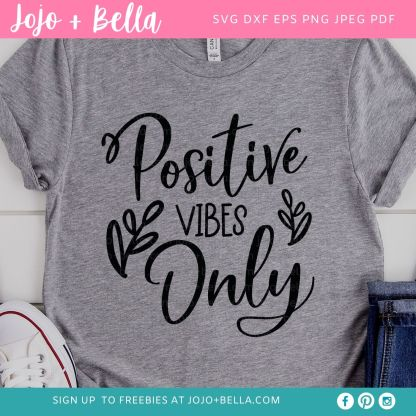 free positive vibes svg