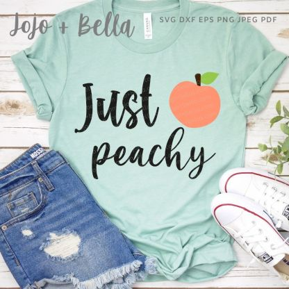 free just peachy svg cut file for cricut and silhouette crafting