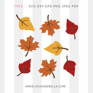 free Autumn Fall Leaf Bundle Svg for cricut and silhouette crafting