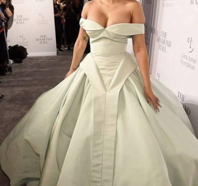 STUNNING! Cardi B Shuts Down Rihanna's 3rd Annual 'Diamond Ball' Red Carpet In Jaw Dropping Gown [Photos/Videos]