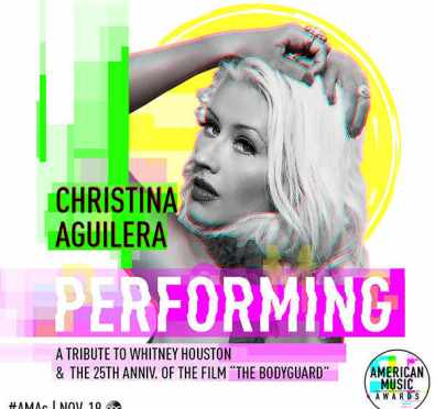 Christina Aguilera To Honor Whitney Houston In 'The Bodyguard' 25th Anniversary Tribute at 'American Music Awards' [Details]