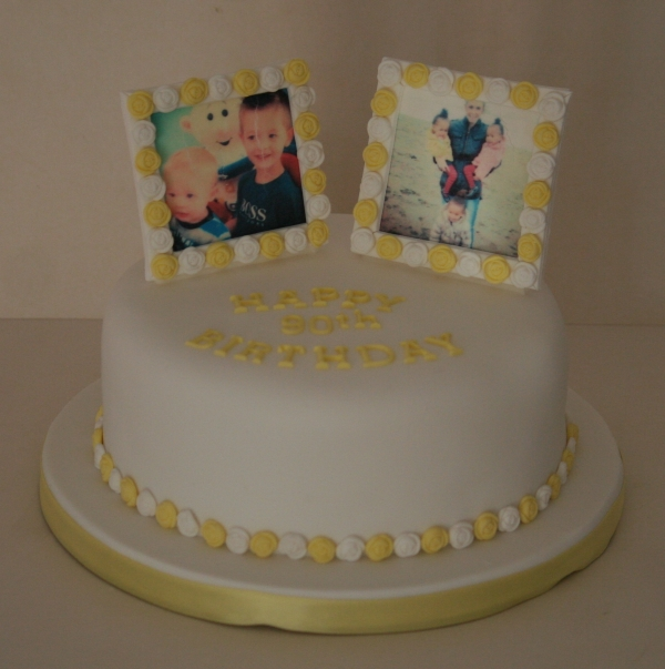 90th Birthday Picture Cake