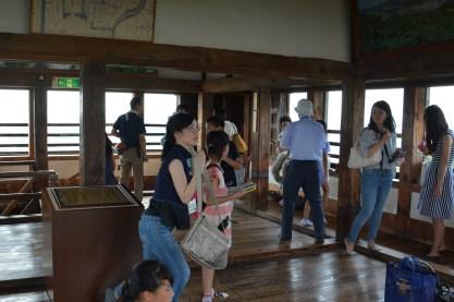 7月31日 松江城天守最上階