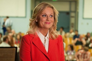 amy poehler during an episode of parks and recreation on nbc