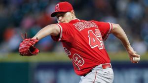 garrett richards delivers a pitch during another lost season for the halos