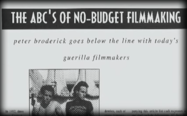 kevin smith made clerks in part by following the ABC's of no-budget filmmaking, a guide by Peter Broderick that he found in a movie magazine