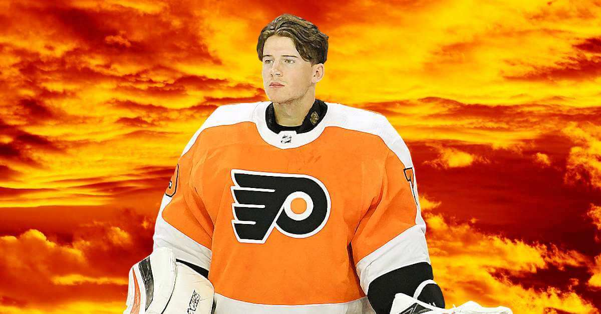 carter hart is the 20 year old seeking to save the flyers disastrous