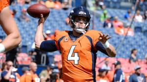 Case Keenum delivers a rocket pass to a receiver in Week 1 of the NFL Season Picks for your Daily Fantasy Lineup in Week 2