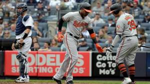 The Orioles celebrate in a game where they went on to beat the yankees What went wrong for the 2018 new york yankees