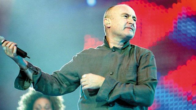 Phil Collins takes the stage in 2018.