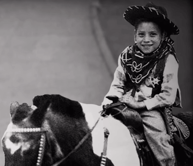 Danny Trejo as a child riding a horse. Danny Trejo Escaped the Death Penalty and Fought His Way to Hollywood.