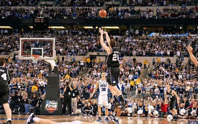 Butler Basketball's Gordon Hayward takes a fateful last-second shot in the 2010 NCAA National Championship game against Duke. Gordon Hayward's Miraculous Return to the NBA, by Joker Mag - the home of the underdog.