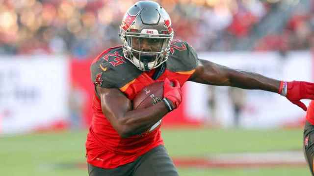 Tampa Bay Bucaneers second-year running back from Auburn Peyton Barber is one of our Week 17 Sneaky Plays for your daily fantasy football lineup