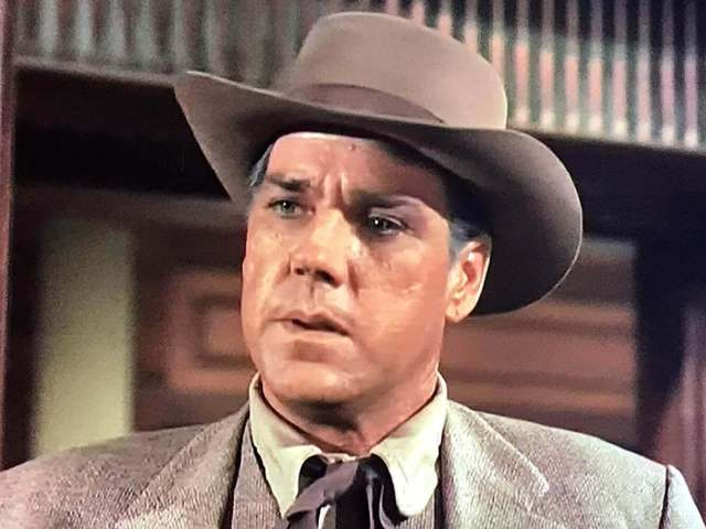 Bing Russell acting in the 1962 western television series 'the Virginian' on NBC