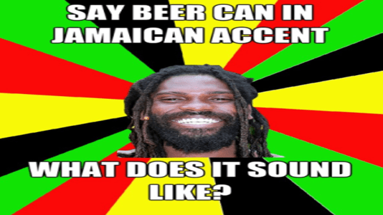 A Jamaican mad man is seen...