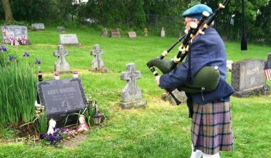 Bagpiper, Grave, Funeral,Septic Tanks