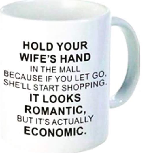 Hold your wife hands in the mall