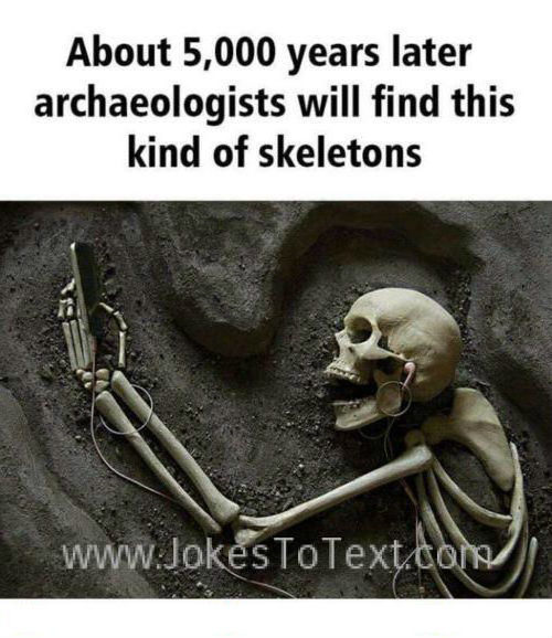 A new type of skeleton that will found by archeologists in