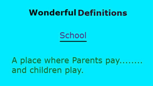 wonderful defintions school
