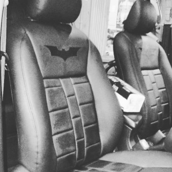 bekleed jok design Batman (utk mobil Vios/City/Yaris/Jazz)