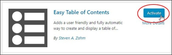 Esay Table of Contents