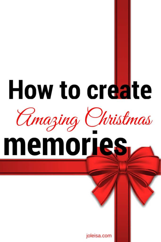 Be like my family and start creating awesome Christmas memories that will last a lifretime