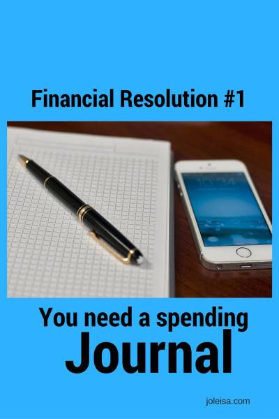 You need a Spending Journal