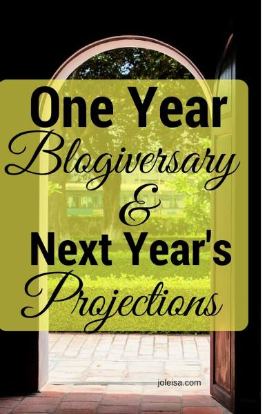 One Year Blog Anniversary and Projections for the Year Ahead