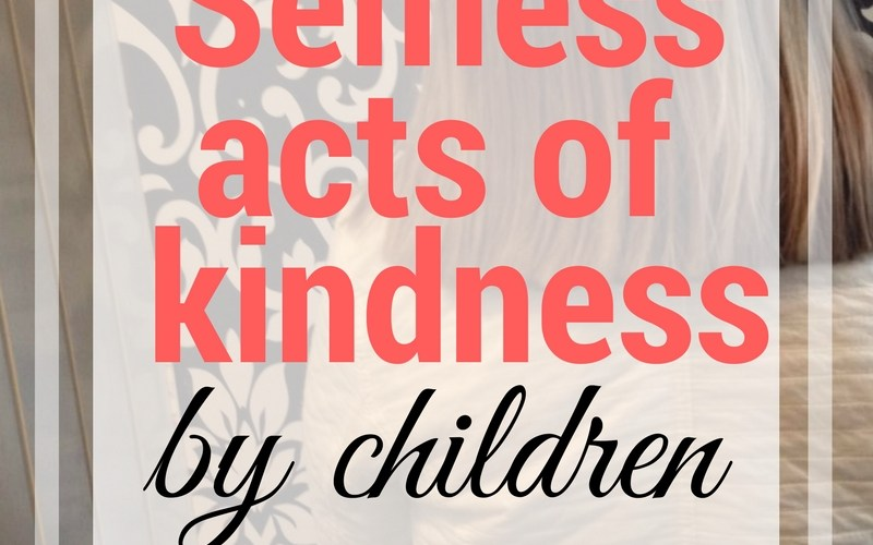 Selfless Acts of Giving from Children